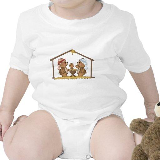 osos de la natividad - navidad trajes de bebé