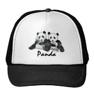 Osos de panda gigante gorros bordados