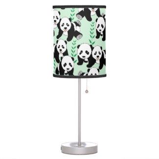 Osos de panda gráficos lámpara de mesilla de noche