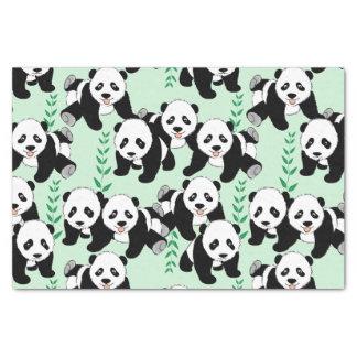 Osos de panda gráficos papel de seda pequeño