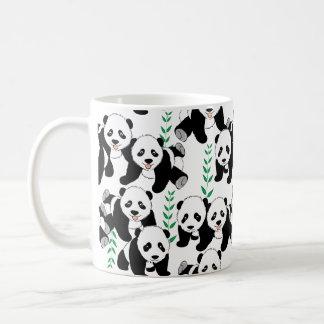 Osos de panda gráficos taza de café