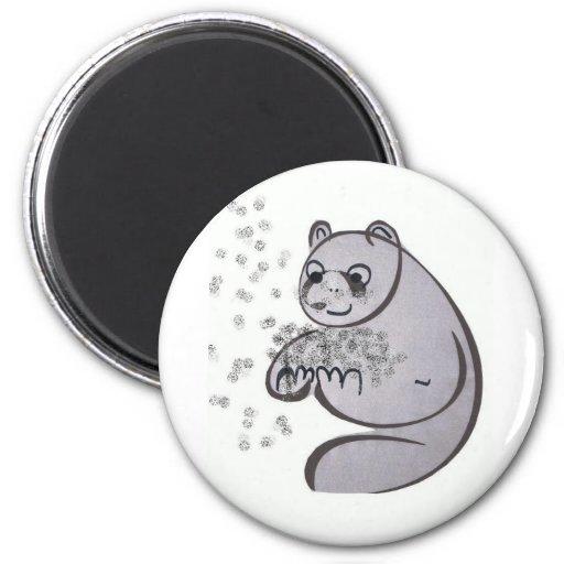 Osos de panda iman para frigorífico