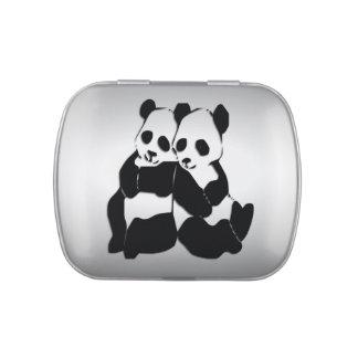 Osos de panda jarrones de dulces