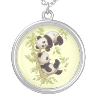 Osos de panda lindos del bebé grimpola personalizada