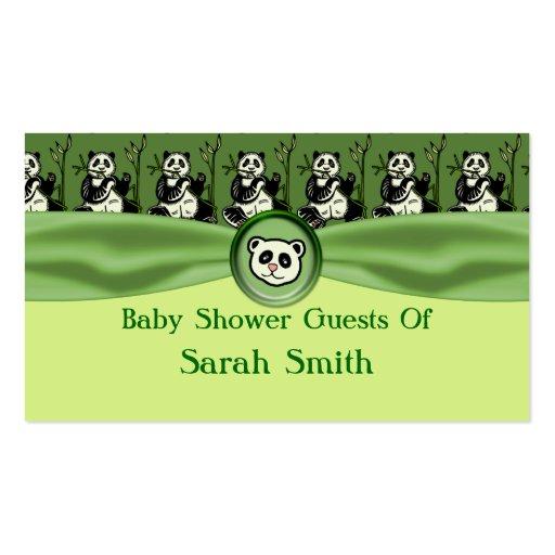 Osos de panda lindos, fiesta de bienvenida al bebé tarjetas de visita