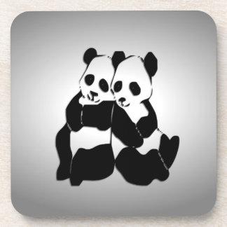 Osos de panda lindos posavaso