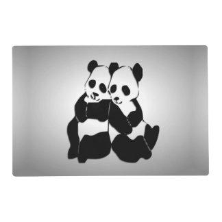 Osos de panda lindos salvamanteles