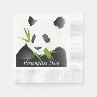 Osos de panda servilleta de papel