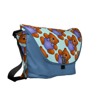 Osos de peluche azules bolsa de mensajeria