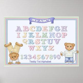 Osos de peluche de la diversión del alfabeto póster