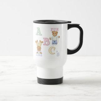 Osos de peluche de la diversión del alfabeto tazas de café