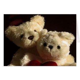 Osos de peluche en amor tarjeta de felicitación