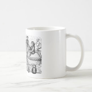 Osos de peluche en la bañera taza de café