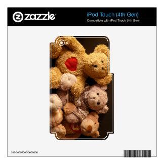 OSOS de PELUCHE (en productos multi) iPod Touch 4G Skins