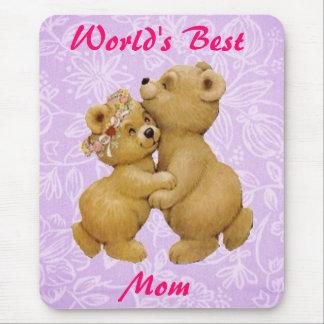 Osos de peluche lindos del baile del día de madres tapete de ratón