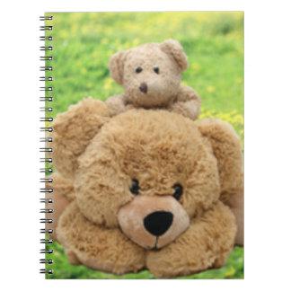 Osos de peluche lindos en un prado notebook