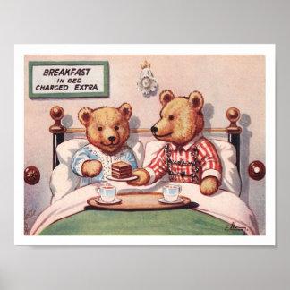 Osos de peluche que tienen cama de Breakfastin Impresiones