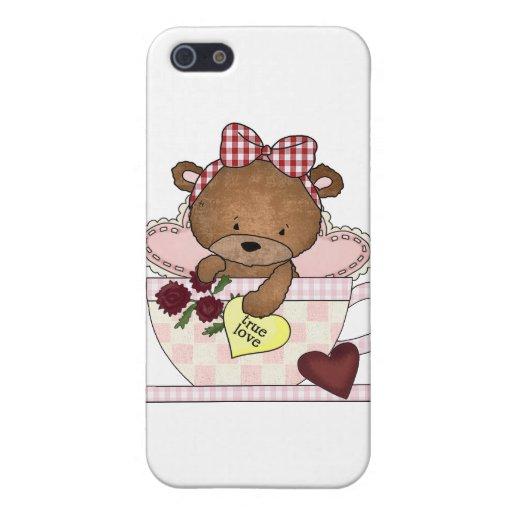Osos de peluche verdaderos del amor iPhone 5 protector