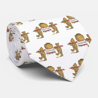 Osos de peluche y habas cocidas Boston Corbatas Personalizadas
