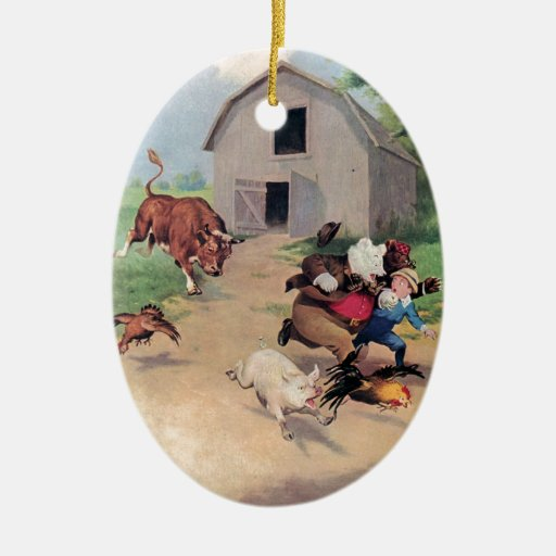 Osos de Roosevelt corridos de una Bull abajo en la Ornamento De Reyes Magos