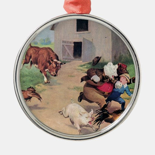 Osos de Roosevelt corridos de una Bull abajo en la Adorno Para Reyes