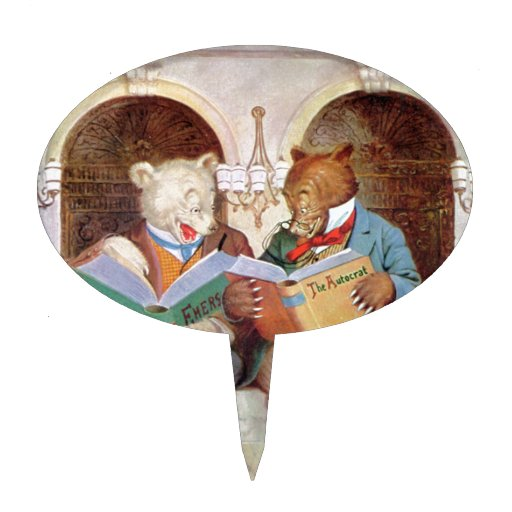 Osos de Roosevelt en la biblioteca pública Figura Para Tarta