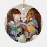 Osos de Roosevelt en la biblioteca pública Ornamentos De Reyes Magos