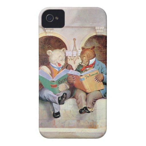 Osos de Roosevelt en la biblioteca pública iPhone 4 Protector