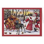 Osos de Santa de la tarjeta de Navidad de great da