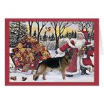 Osos de Santa de la tarjeta de Navidad del pastor