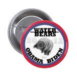 Osos del agua para Obama/Biden 2012 Pin