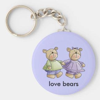 osos del amor llavero