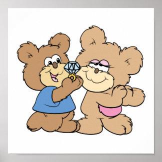 osos del boda de la oferta impresiones