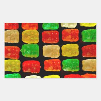 Osos del caramelo pegatina rectangular