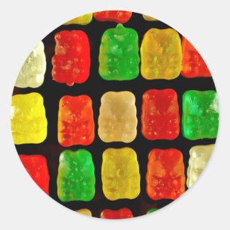 Osos del caramelo pegatina redonda
