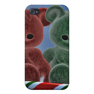 Osos del navidad iPhone 4 carcasa