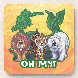Osos del tigre de los leones oh mis cabezas posavasos de bebida