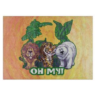 Osos del tigre de los leones oh mis tabla para cortar