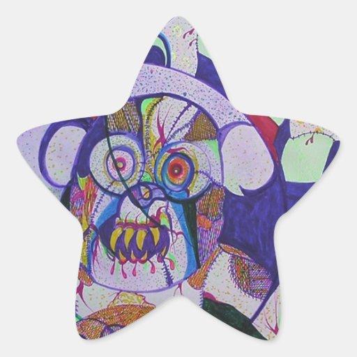 Osos del zombi pegatina en forma de estrella