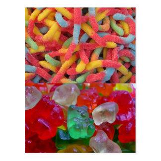 Osos deliciosos y gomosos (algunos gusanos en algu tarjetas postales