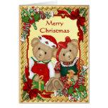 Osos dulces del navidad - verso dentro tarjeta de felicitación