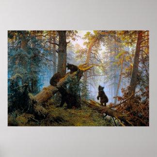 Osos en el bosque impresiones