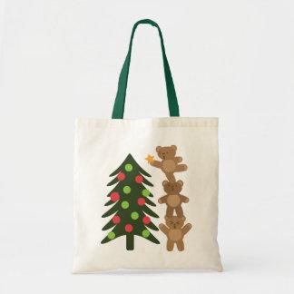 Osos en el navidad bolsa