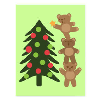 Osos en el navidad tarjetas postales