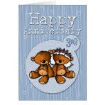 osos felices del aniversario - 3 años felicitacion
