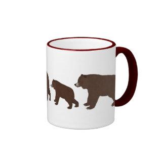 Osos grizzly taza de dos colores
