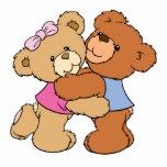 Osos lindos del abrazo de oso esculturas fotograficas
