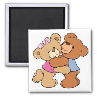 Osos lindos del abrazo de oso iman de frigorífico