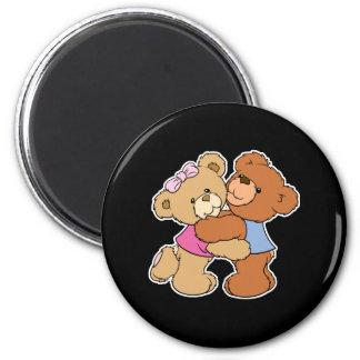 Osos lindos del abrazo de oso imán de nevera
