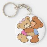 Osos lindos del abrazo de oso llaveros personalizados